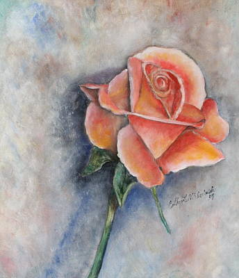 Rose Painting - Single Rose In Oil by Cathy Lindsey