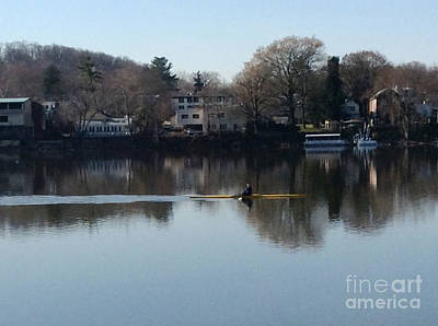 Photograph - Single Scull On The Delaware - 2 by Christopher Plummer