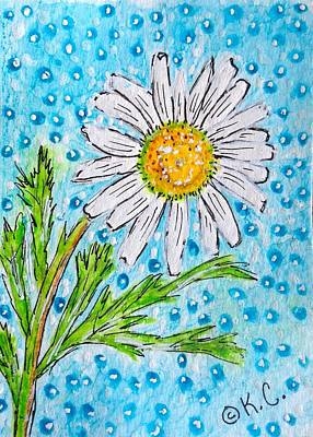 Painting - Single Summer Daisy by Kathy Marrs Chandler