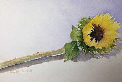Painting - Single Sunflower by Cynthia Roudebush