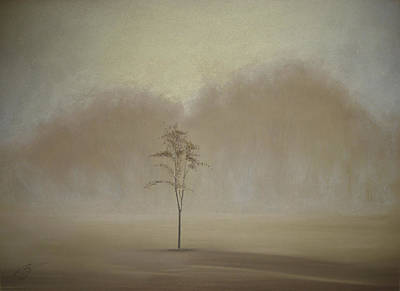 Pastel - Single Tree - Pastel by Ben Kotyuk