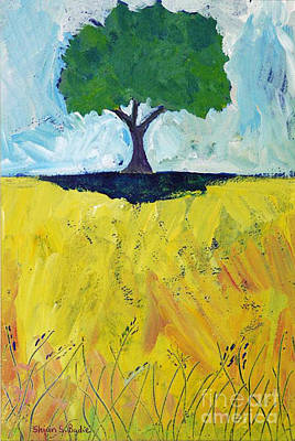 Painting - Single Tree by Shirin Shahram Badie