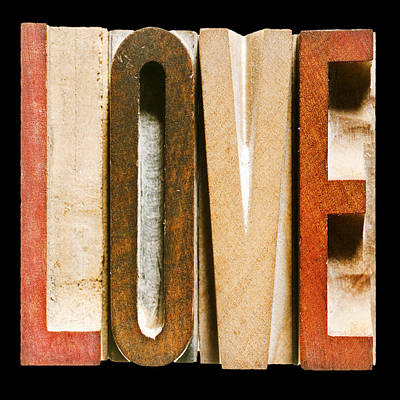 Single Word Love Print by Donald  Erickson