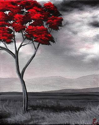 Singled Out Red Art Print by Erin Scott