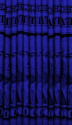 Politicians Mixed Media - SINGLES in BLUE by Rob Hans
