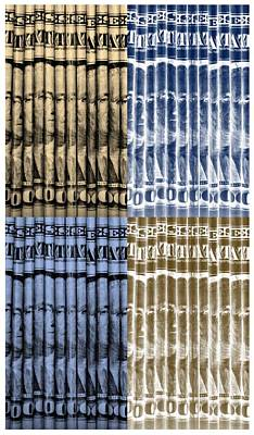 Mixed Media - Singles In Gold And Blue by Rob Hans
