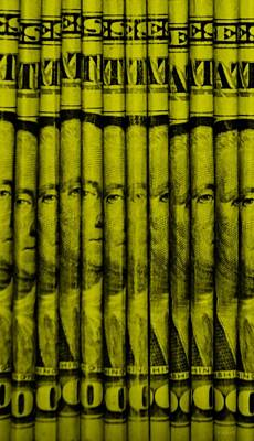 George Washington Mixed Media - Singles In Yellow by Rob Hans