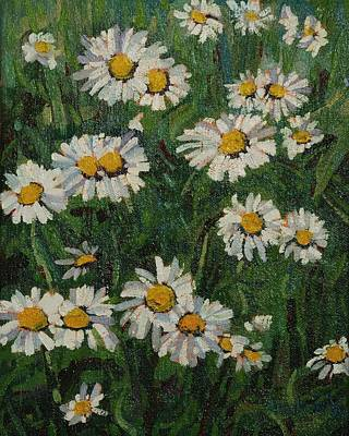Ipap Painting - Singleton Daisies by Phil Chadwick