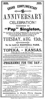 Painting - Singleton Handbill, 1882 by Granger