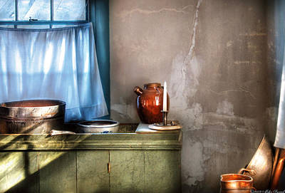 Sink - The Jug And The Window Art Print by Mike Savad