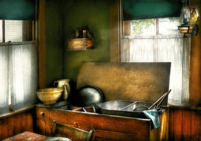 Old Fashioned Tub Photograph - Sink - The Kitchen Sink by Mike Savad