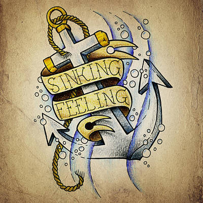 Sinking Feeling Art Print by Samuel Whitton