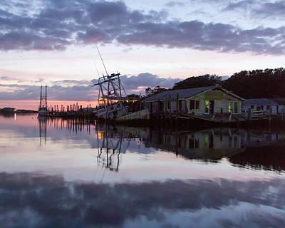 Photograph - Sinking Sun Sunken Boat by Alan Raasch