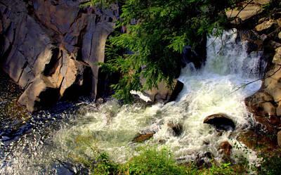 Creekbed Photograph - Sinks Waterfall by Karen Wiles