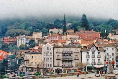Photograph - Sintra Townscape by Gene Norris