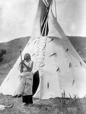 Sioux And Tipi, C1907 Art Print