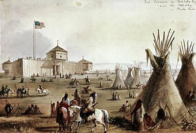 Sioux At Fort Laramie, 1837 Art Print