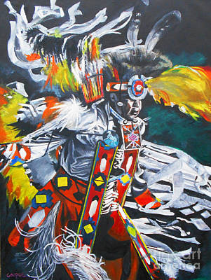 Sioux Dancer Original by Kevin J Cooper Artwork