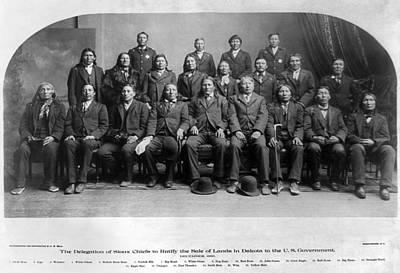 Sioux Delegation, 1889 Art Print by Granger