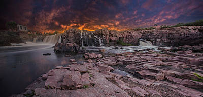 Photograph - Sioux Falls by Aaron J Groen