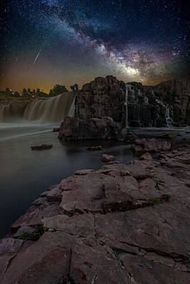 Shooting Star Photograph - Sioux Falls Dreamscape by Aaron J Groen