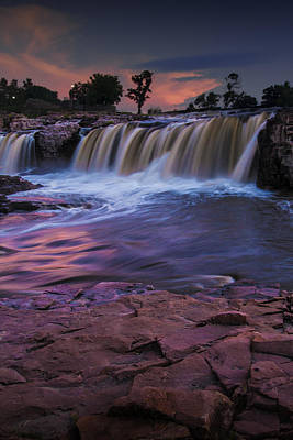 Photograph - Sioux Falls In South Dakota by Randall Nyhof