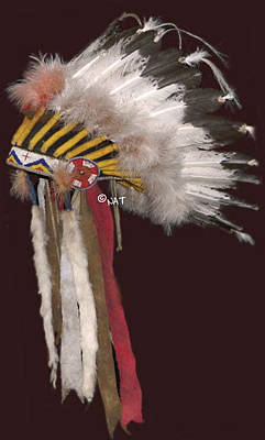 Cheyenne Headdress Mixed Media - Sioux Headdress / Plains Indian Headd by Native Arts Trading