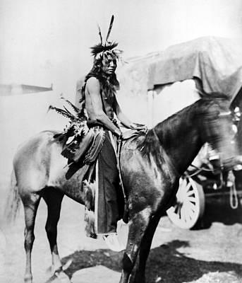 The American Buffalo Photograph - Sioux Horseman, C1901 by Granger
