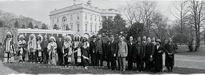 White House Photograph - Sioux Indians Washington Dc by Fred Schutz Collection