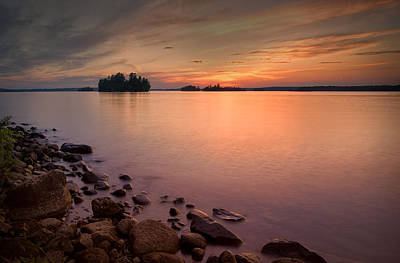 Eduardo Tavares Royalty-Free and Rights-Managed Images - Sioux Narrows Sunset by Eduardo Tavares
