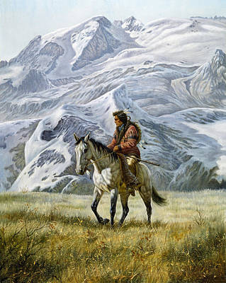Indian Fine Art Painting - Sioux Scout by Gregory Perillo