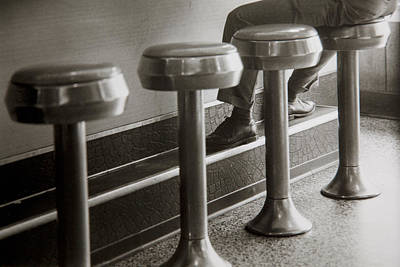 Stools And Counter Photograph - Sip N' Soda by Steve Gravano