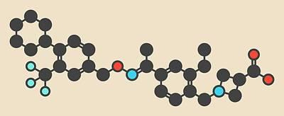 Multiple Sclerosis Photograph - Siponimod Anti-inflammatory Drug Molecule by Molekuul