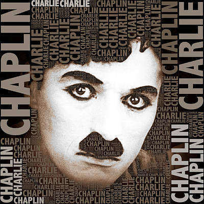 Limelight Photograph - Sir Charles Spencer Charlie Chaplin Square by Tony Rubino