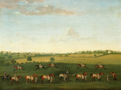 Sir Charles Painting - Sir Charles Warre Malets String Of Racehorses At Exercise by Litz Collection