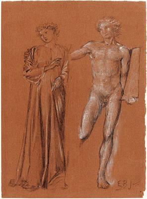1833 Drawing - Sir Edward Coley Burne-jones British, 1833 - 1898 by Quint Lox