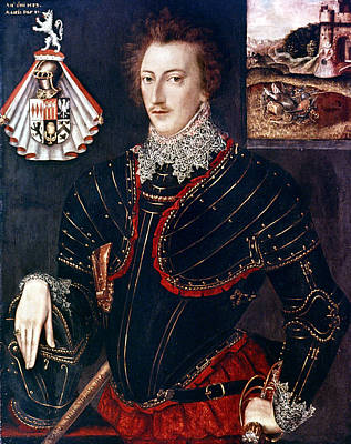 Breastplate Painting - Sir Edward Hoby (1560-1617) by Granger