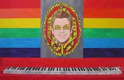 Queen Elizabeth Ii Painting - Sir Elton John by Jeepee Aero