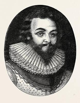 Drake Drawing - Sir Francis Drake, He Was An English Sea Captain by English School