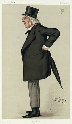 Sir Francis Hastings  Charles Doyle Art Print by Mary Evans Picture Library