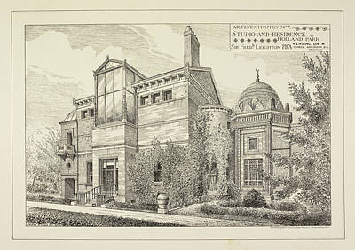 Sir Frederick Leighton's Home In London Print by British Library