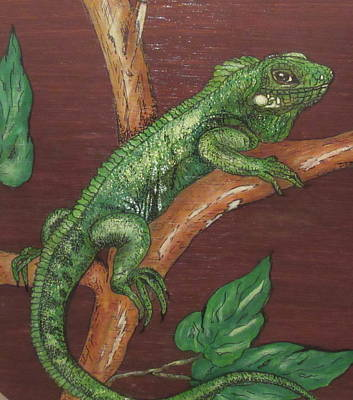 Painting - Sir Iguana by Ashley Goforth