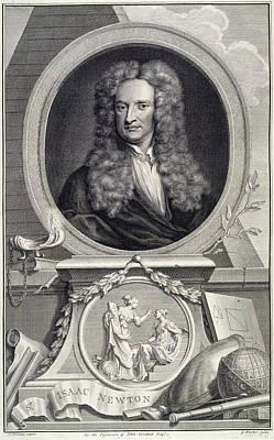 Isaac Newton Photograph - Sir Isaac Newton by British Library