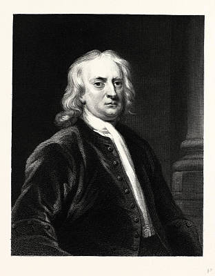 Newton Drawing - Sir Isaac Newton by English School