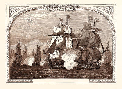 Jervis Drawing - Sir John Jervis Action Off Cape St. Vincent by Portuguese School