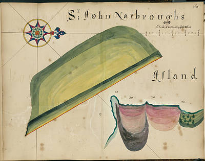 Sir John Narbrough's Island Art Print by British Library