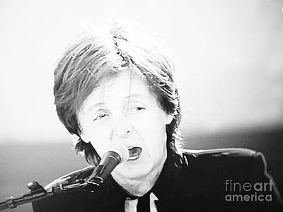 Sir Paul In Monochrome Art Print by Tina M Wenger