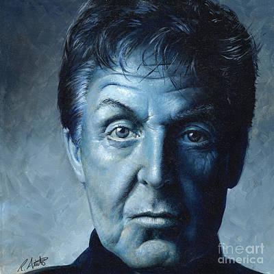 Fab Four Painting - Sir Paul by Roy Aiuto
