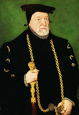 Gold Chain Painting - Sir Percival Hart, Unknown Artist, 16th Century by Litz Collection