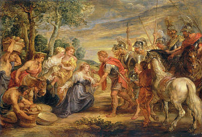 Abigail Painting - Sir Peter Paul Rubens, The Meeting Of David And Abigail by Quint Lox